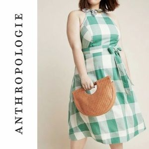 Anthropologie Greta Gingham Dress by Maeve NWT NEW
